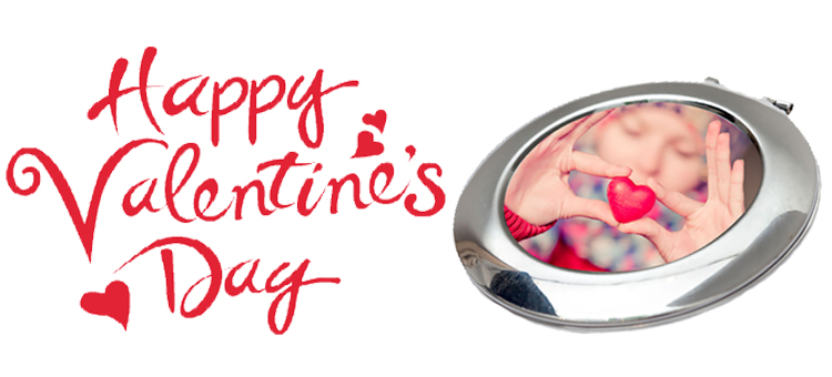 happy valentines day compact mirror