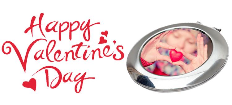 happy valentines day compact mirror