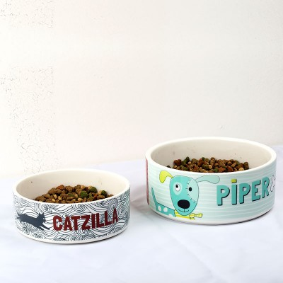 personalised pet bowls