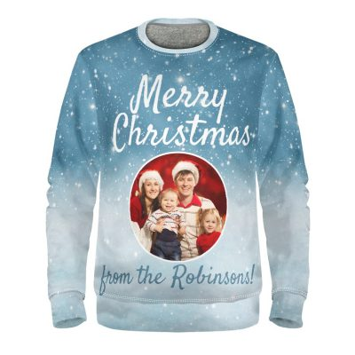 personalised christmas jumper with photo