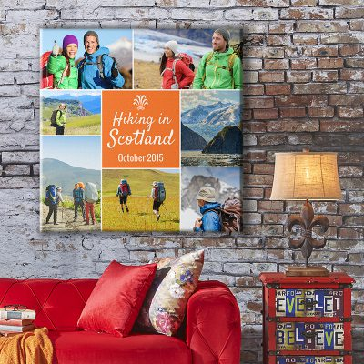 tile montage photo canvas wall art
