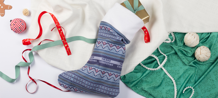 how to make a personalised christmas stocking