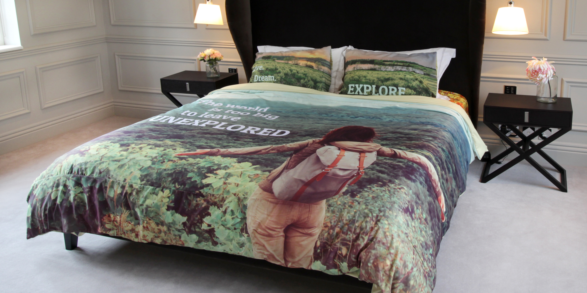 personalised duvet with photos