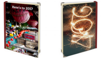 personalised diary front and back