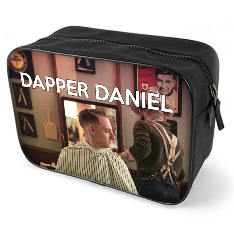 personalised wash bag for men