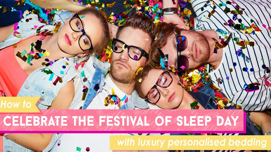 celebrate festival of sleep day personalised bedding