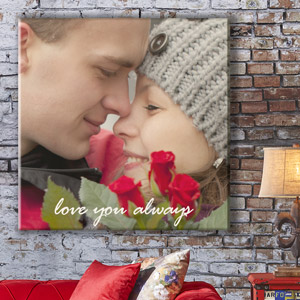 personalised photo canvas for valentine's day