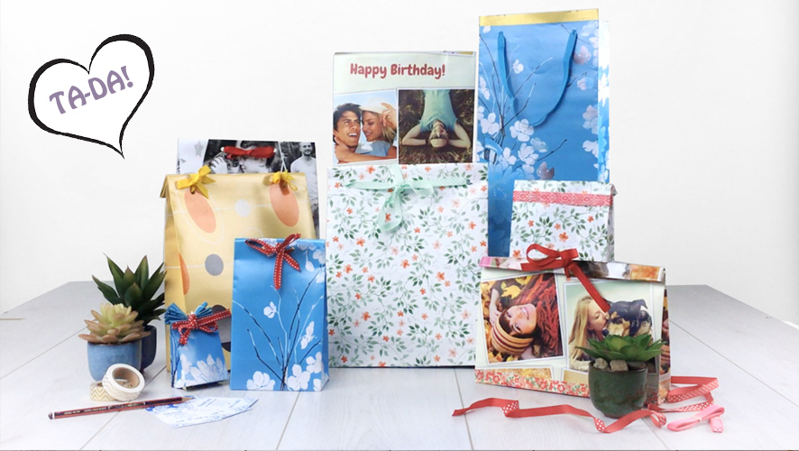 how to make a gift bag from wrapping paper - gift bag selection