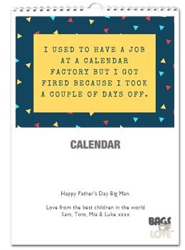 calendar dad joke gift