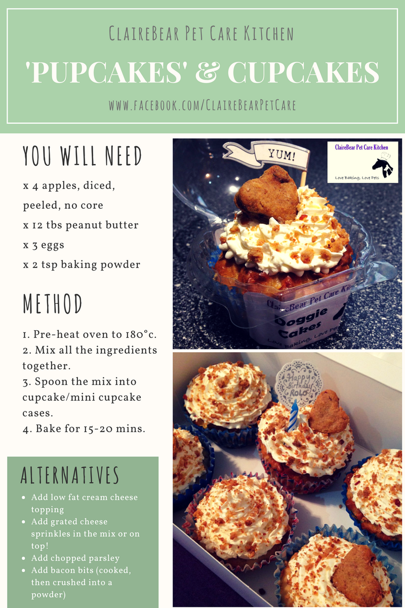 ClaireBear Pet Care pupcake recipe