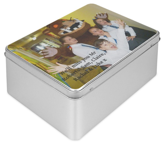 biscuit tin for teacher personalised gifts