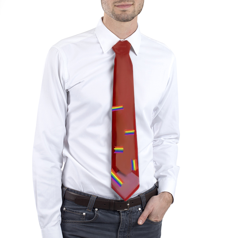Donald Trump rainbow tie