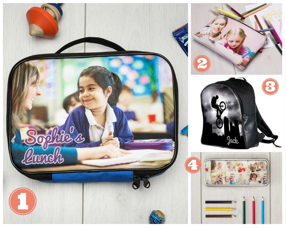 personalised lunchbox and pencil case