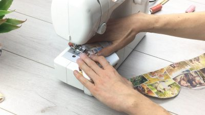 how to make fabric roses step 10