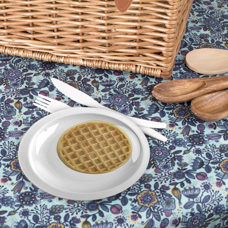 Assiette imprimée avec photo gauffre