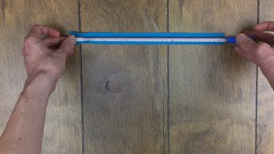 first part of how to make a pencil case is measure your zip