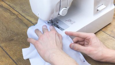move zipper back to the top once you've passed it and continue sewing