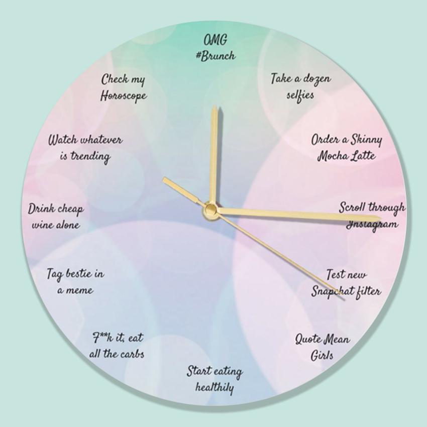 basic bitch funny clock design
