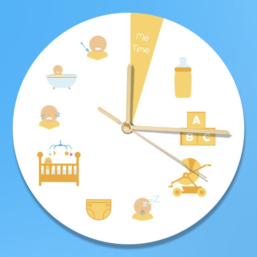 new mum funny clock design
