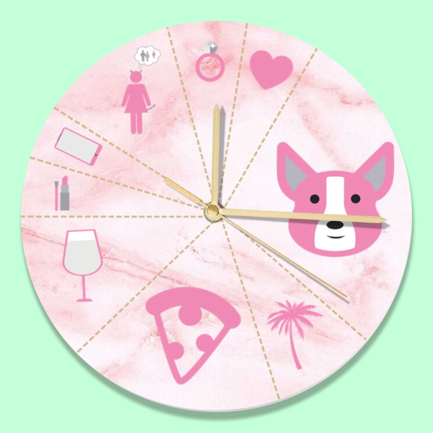 funny clock design girlfriend