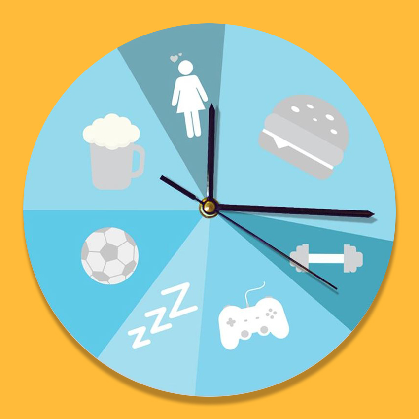 boyfriend funny clock design