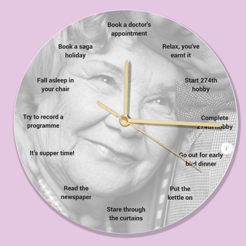 old funny clock design