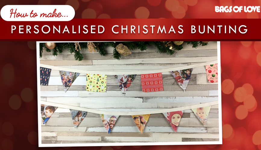 how to make christmas bunting