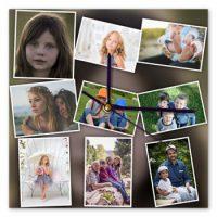 photo collage ideas 9 photo clock