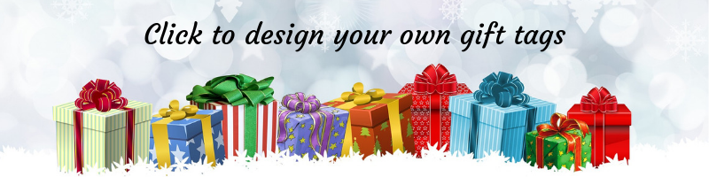 Click to design your own gift tags