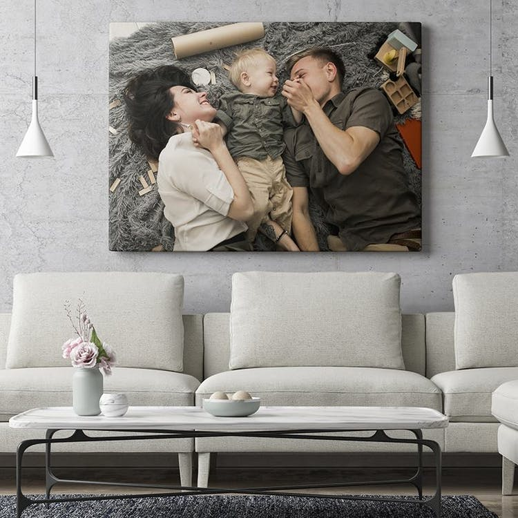 personalised photo canvas to show your love