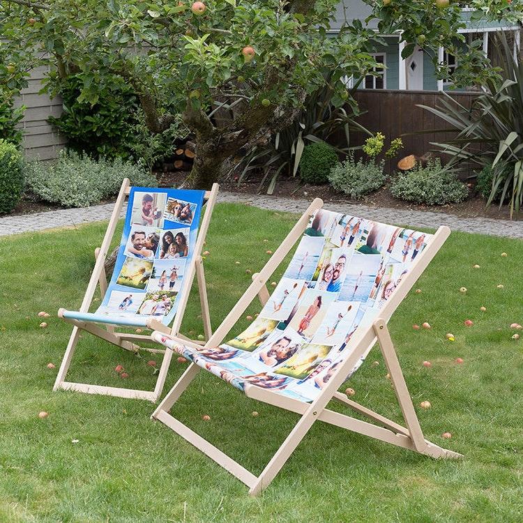 18th birthday personalised deckchairs