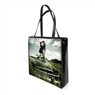 personalised photo shopper bags