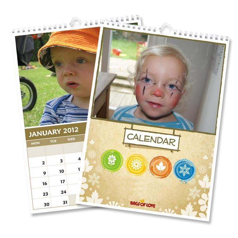 personalised calendars wich childrens pictures