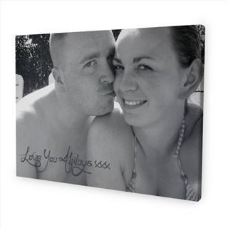 personalised message canvas couple romantic