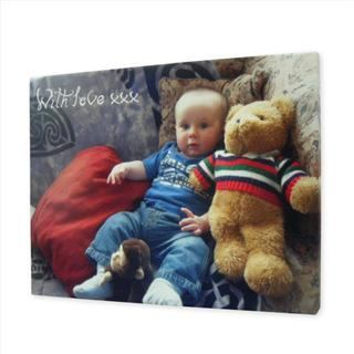 personalised baby message canvas