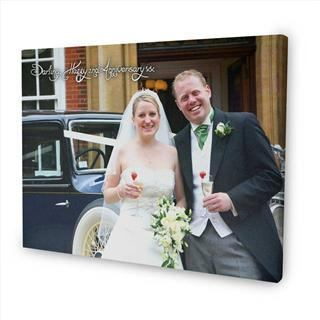 personalised message photo canvas wedding couple