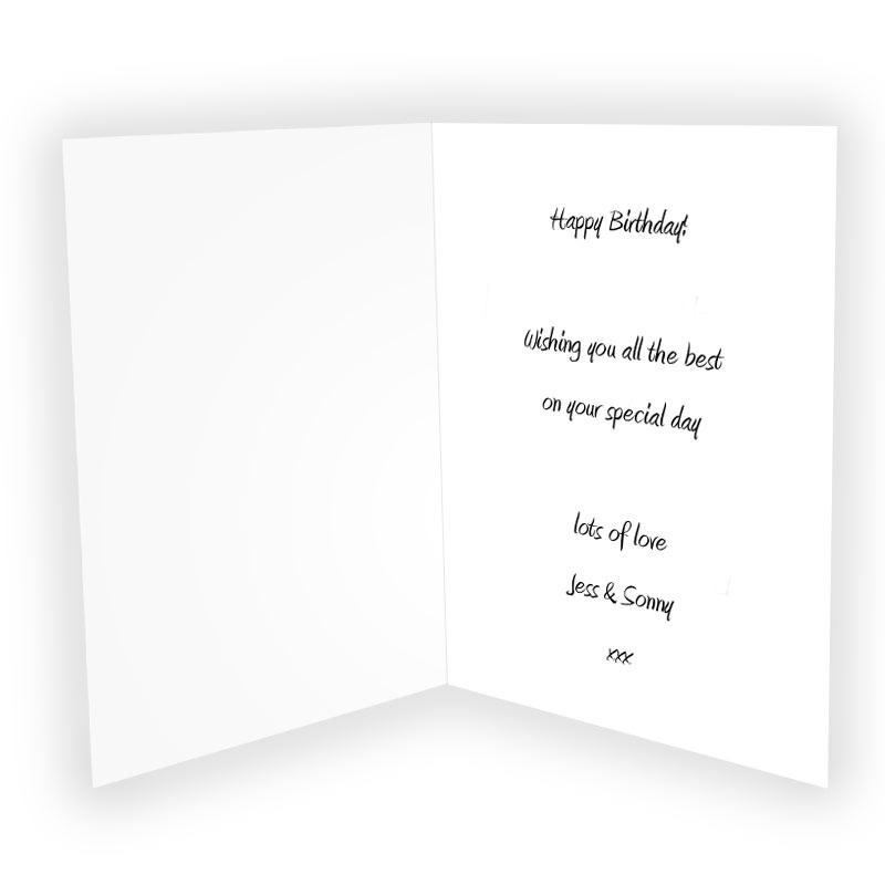 Personalised cards online photo greetings card m4hsunfo