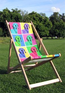 personalised photo deckchair