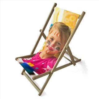personalised photo gift deckchair
