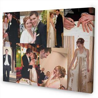 personalised photo canvas overlap montage