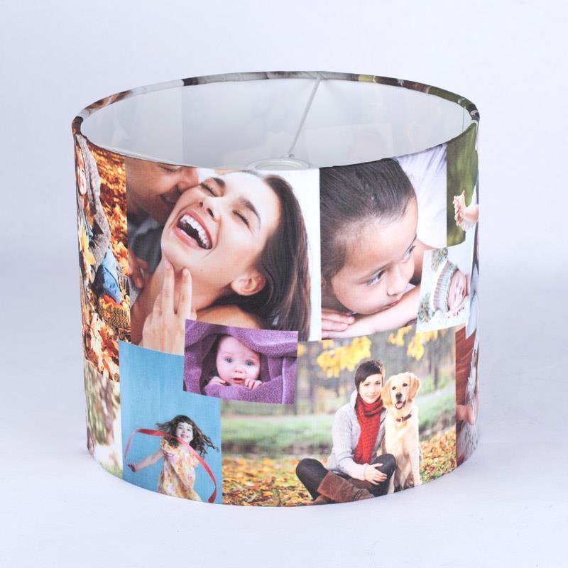 Personalized photo lamp crafthubs personalised lamp shade uk custom photo lamp shade drum aloadofball Image collections