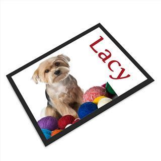 personalised pet mat
