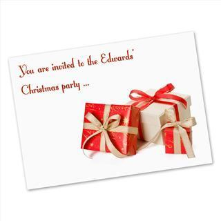 personalised party invite postcard