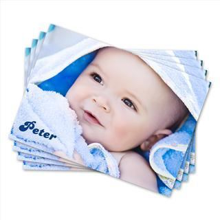 personalised baby photo thankyou cards
