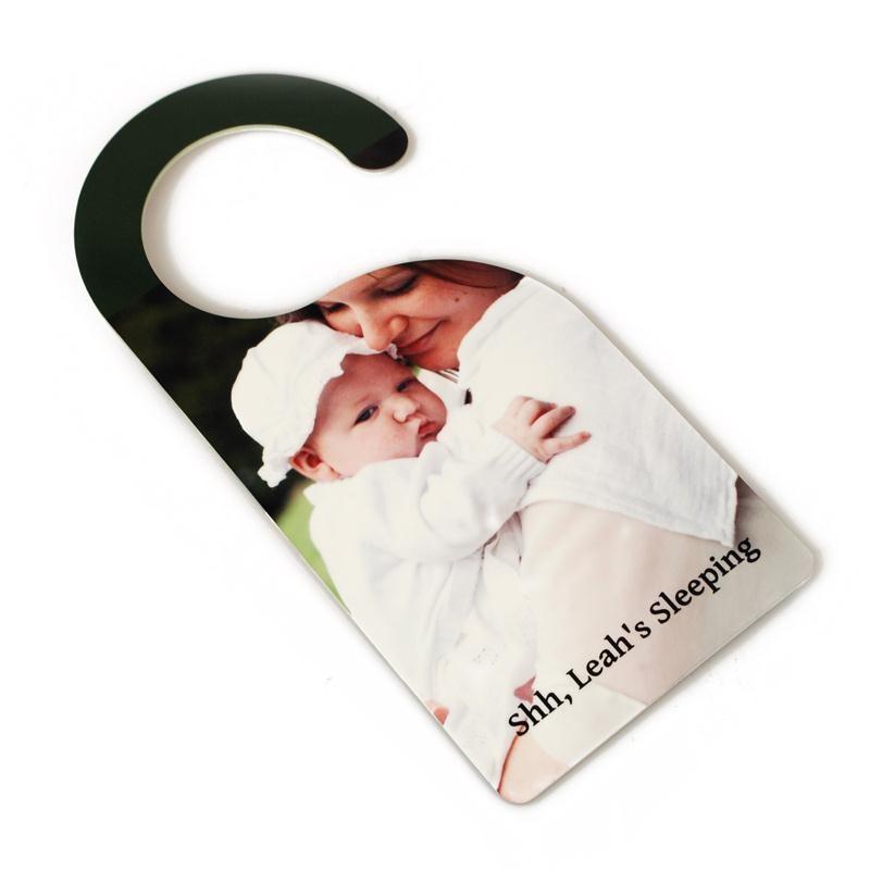 Personalised door hangers name door hangers with photo for Design your own door