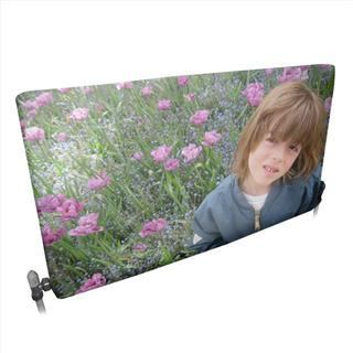 personalised photo radiator cover flowers