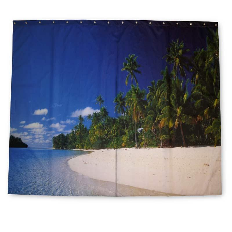 Beach Curtains For Kitchen Sand Shower Curtain