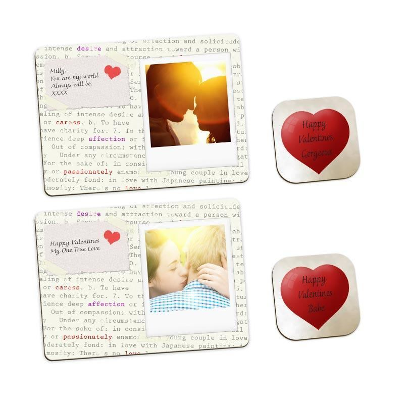 Valentines Day Personalised Placemats Set